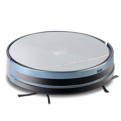 4 Mode Robotic Vacuum Cleaner - Silver & Blue - Factory To Home - Appliances