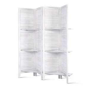 4 Panel Foldable Room Divider - White - Factory To Home - Furniture