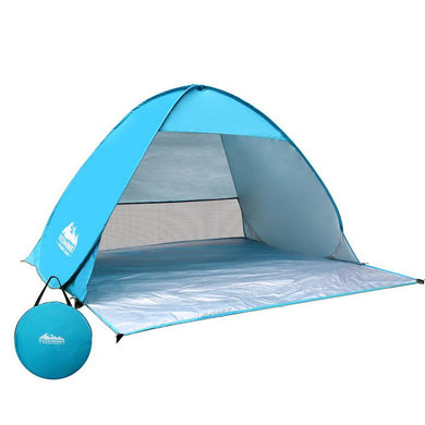 4 Person Pop Up Camping Tent - Blue - Factory To Home - Outdoor