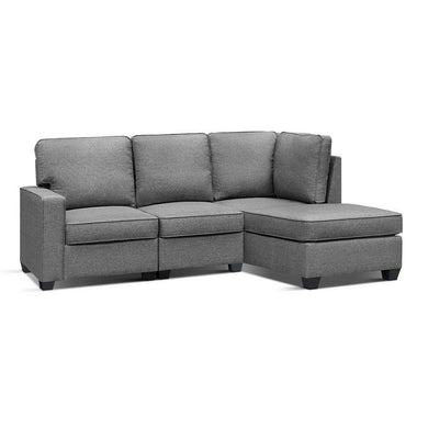 4 Seater Modular Chaise Couch - Fabric Grey - Factory To Home - Furniture