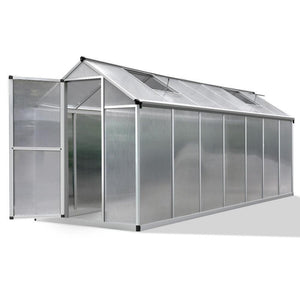 4.2 x 1.9m Polycarbonate Aluminium Greenhouse - Factory To Home - Home & Garden