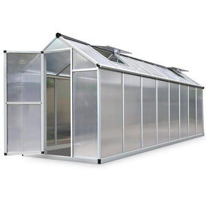 4.8 x 1.9m Polycarbonate Aluminium Greenhouse - Factory To Home - Home & Garden