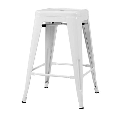 4x Replica Tolix Bar Stools - White - Factory To Home - Furniture