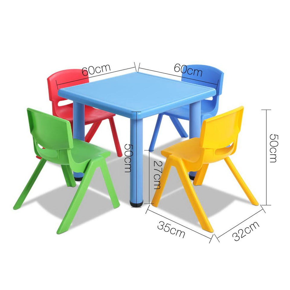 5 Piece Kids Table and Chair Set - Blue - Factory To Home - Baby & Kids