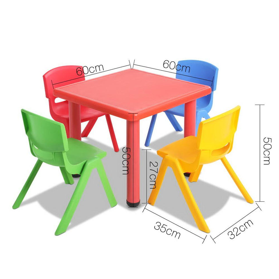 5 Piece Kids Table and Chair Set - Red - Factory To Home - Baby & Kids