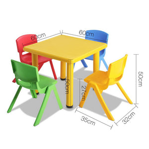5 Piece Kids Table and Chair Set - Yellow - Factory To Home - Baby & Kids