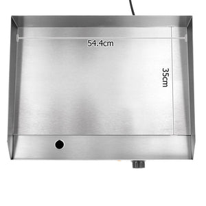 5 Star Chef 3000W Electric Griddle Hot Plate - Stainless Steel - Factory To Home - Home & Garden
