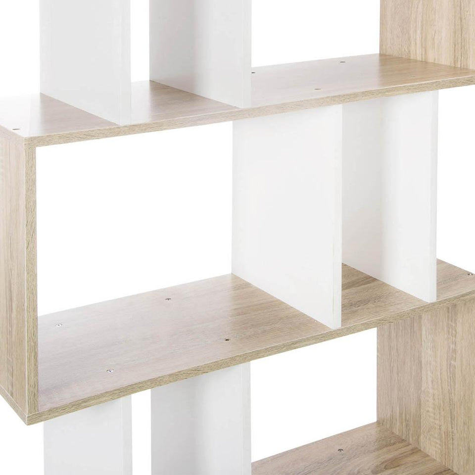 5 Tier Book Storage Shelf - White & Brown - Factory To Home - Furniture