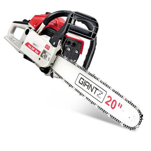 58CC Commercial Petrol Chainsaw - Red & White - Factory To Home - Tools