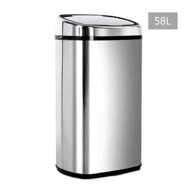 58L Stainless Steel Motion Sensor Rubbish Bin - Factory To Home - Home & Garden