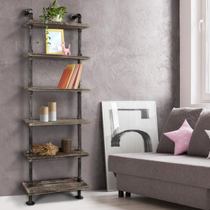 6 Level Wooden Bookshelf - Factory To Home - Home & Garden