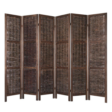 6 Panel Privacy Screen Wood - Willow - Factory To Home - Furniture