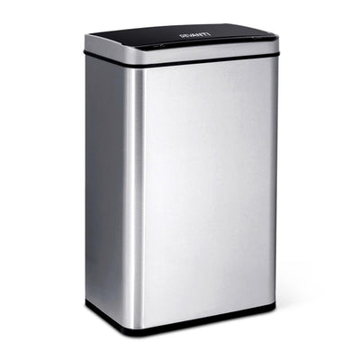 60L Motion Sensor Bin - Silver - Factory To Home - Home & Garden