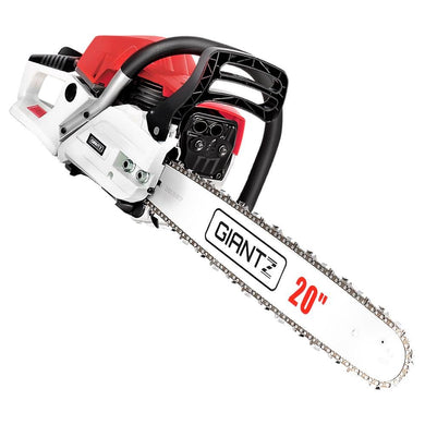 62CC Commercial Petrol Chainsaw - Red & White - Factory To Home - Home & Garden