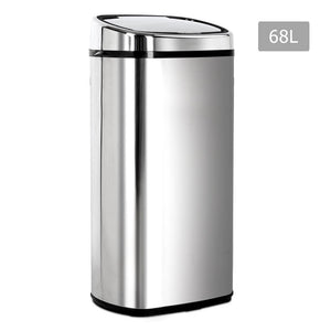 68L Stainless Steel Motion Sensor Rubbish Bin - Factory To Home - Home & Garden