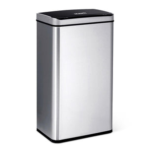 70L Motion Sensor Bin - Silver - Factory To Home - Home & Garden