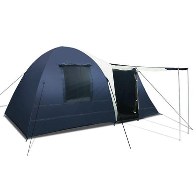 8 Person Canvas Dome Camping Tent - Navy & Grey - Factory To Home - Outdoor