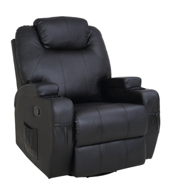 8 Point PU Leather Massage Recliner Chair - Factory To Home - Furniture