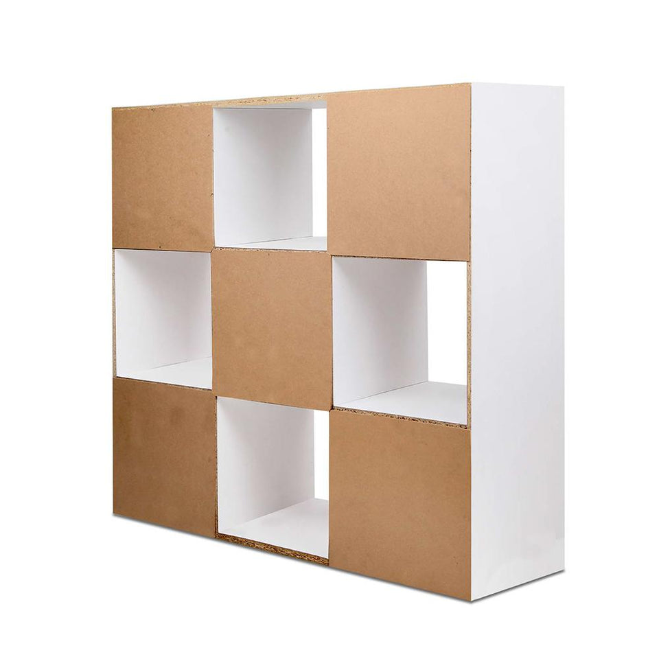9 Cube Display Storage Shelf - White - Factory To Home - Furniture