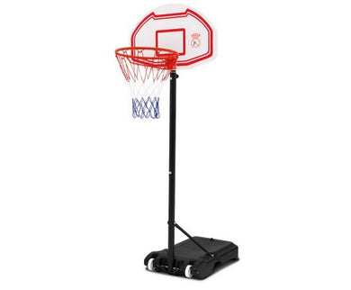 2.1M Adjustable Portable Basketball Hoop System - White