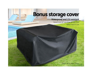 7PC Outdoor Sofa Set with Storage Cover