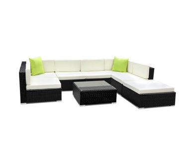 8PC Sofa Set with Storage Cover