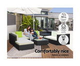 9PC Outdoor Sofa Set with Storage Cover