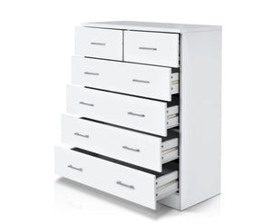 6 Drawers Tallboy - White