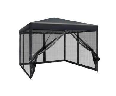 3x3m Pop Up Gazebo - Black