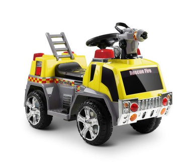 Kids Ride On Fire Truck Motorbike - Yellow