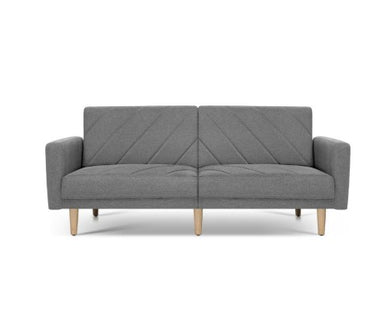 3 Seater Sofa Bed - Grey Fabric