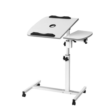 Adjustable Computer Stand with Cooler Fan - White - Factory To Home - Furniture