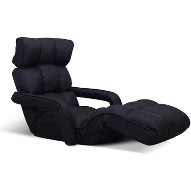 Adjustable Lounger with Arms - Black - Factory To Home - Furniture