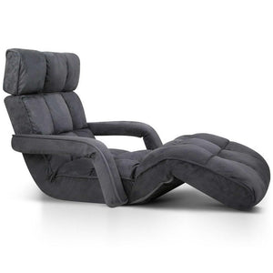 Adjustable Lounger with Arms - Charcoal - Factory To Home - Furniture