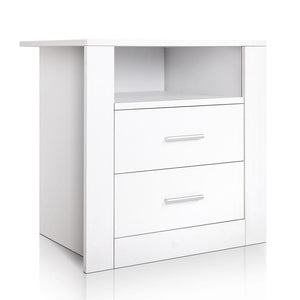 Anti-Scratch Bedside Table - White - Factory To Home - Furniture