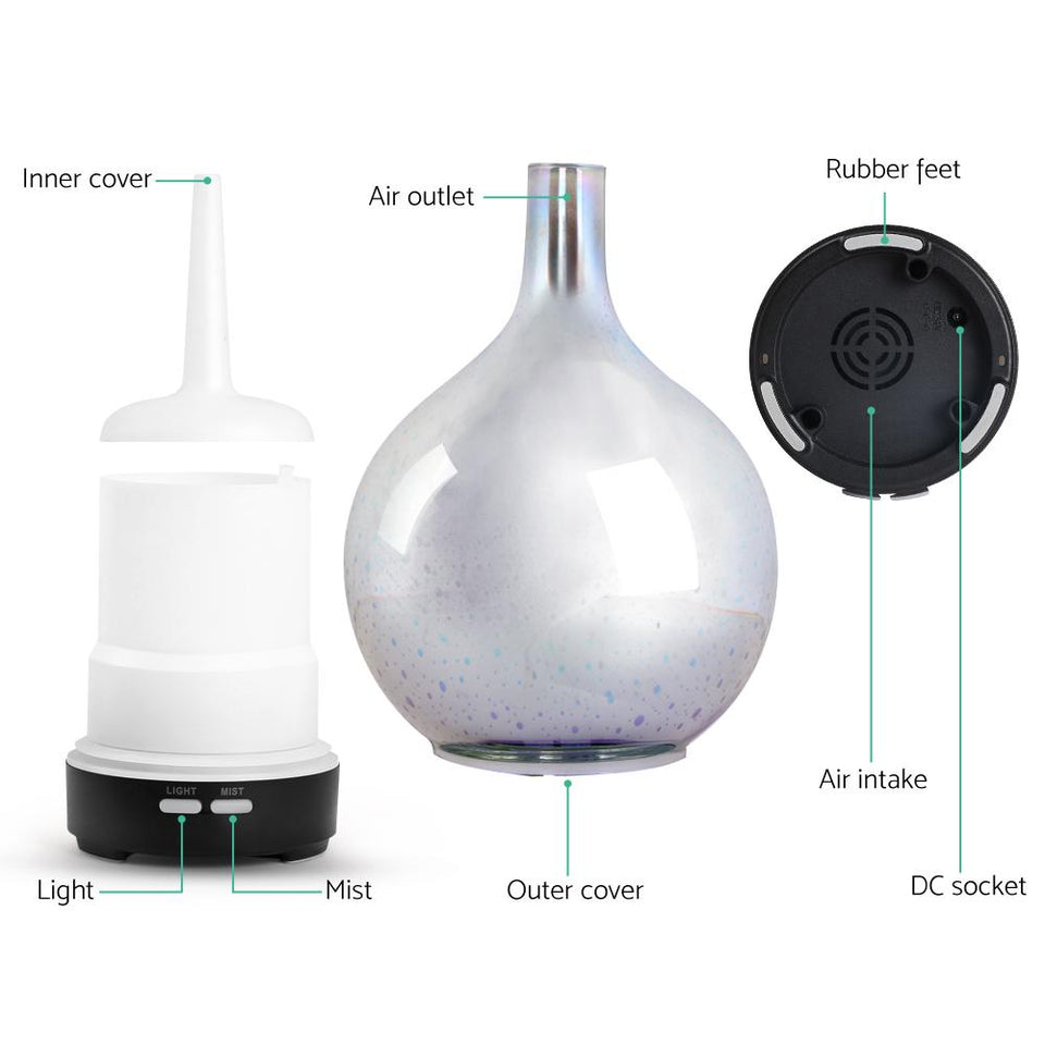 Aroma Diffuser 3D LED Firework Air Humidifier 100ml - Factory To Home - Appliances