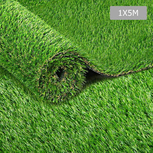 Artificial Synthetic Grass 1 x 5m 40mm - Natural - Factory To Home - Home & Garden