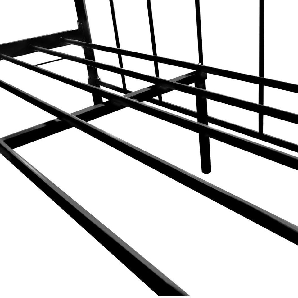 Artiss Double Size Metal Bed Frame - Black - Factory To Home - Furniture