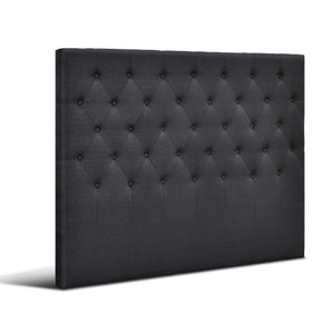 Artiss Double Size Upholstered Fabric Headboard - Charcoal - Factory To Home - Furniture
