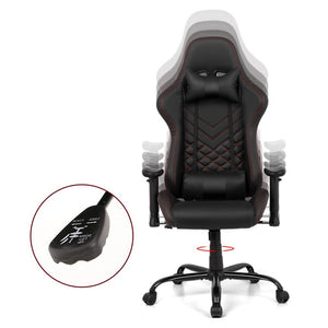 Artiss Gaming Office Chairs Computer Desk Racing Recliner Executive Seat Black - Factory To Home - Furniture