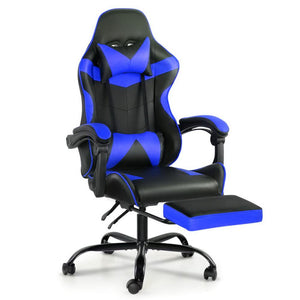 Artiss Gaming Office Chairs Computer Seating Racing Recliner Footrest Black Blue - Factory To Home - Furniture