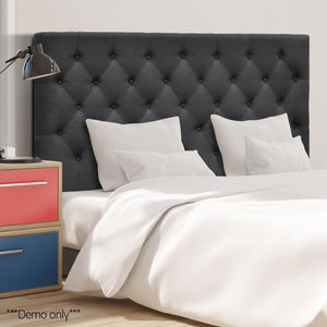 Artiss King Size Upholstered Fabric Headboard - Charcoal - Factory To Home - Furniture