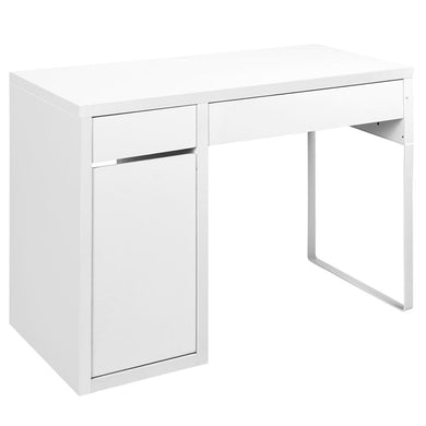 Artiss Metal Desk With Storage Cabinets - White - Factory To Home - Furniture
