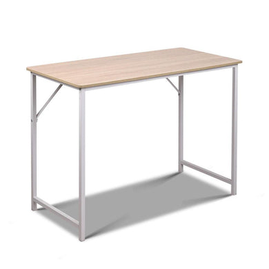 Artiss Minimalist Metal Desk - White - Factory To Home - Furniture