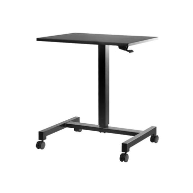 Artiss Mobile Height Adjustable Standing Desk Sit Stand Portable Computer Laptop Bar Table Gas Lift Black - Factory To Home - Furniture