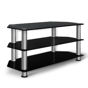 Artiss TV Stand Entertainment Unit Media Cabinet Temptered Glass 3 Tiers - Factory To Home - Furniture