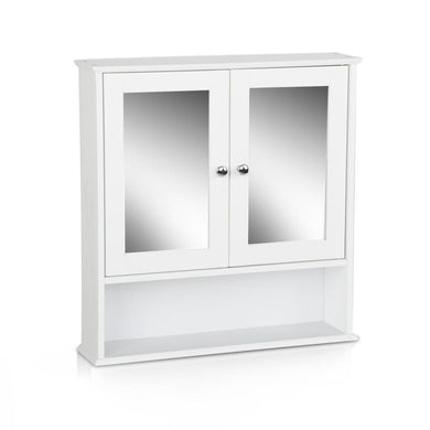 Bathroom Tallboy with Mirror - White - Factory To Home - Furniture