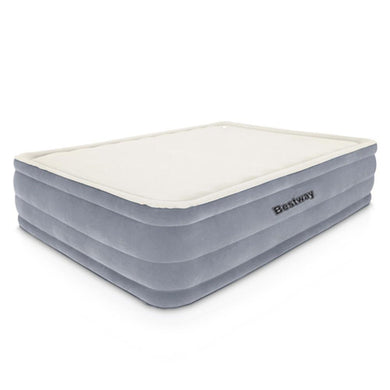 Bestway Queen Size Inflatable Air Mattress - Grey & Beige - Factory To Home - Home & Garden