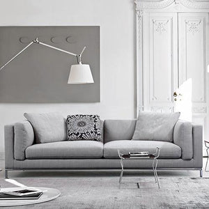 Carlton Grey Linen Fabric Cover Sofa - Factory To Home - Furniture