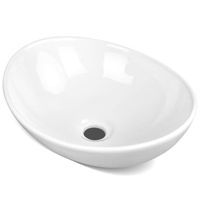 Ceramic Oval Sink Bowl - White - Factory To Home - Home & Garden